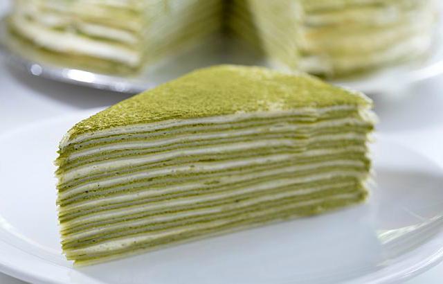 Cách làm bánh crepe trà xanh – Matcha Mille Crepe