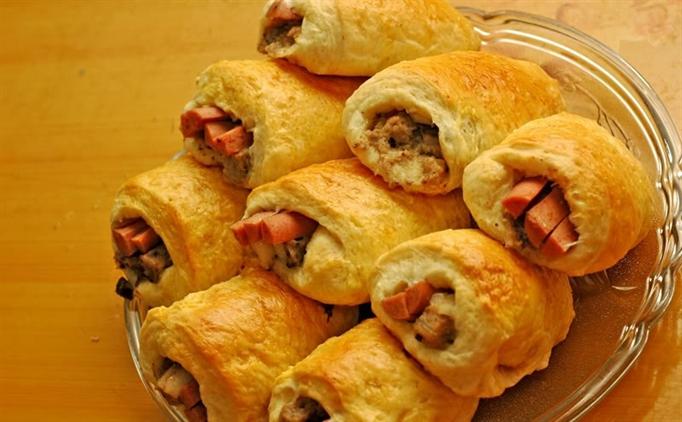 bánh mì nhân mặn bánh mì Bánh mì nhân mặn cho bữa sáng cuối tuần banh mi nhan man