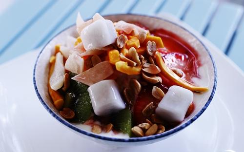 Cách làm chè trái cây Hàn Quốc 5 chè trái cây Cách làm chè trái cây theo kiểu Hàn Quốc Cach lam che trai cay patbingsu 5