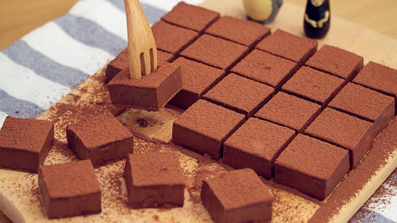 cách làm nama chocolate Những cách làm nama chocolate mềm mịn ngon như đi mua cach lam nama chocolate