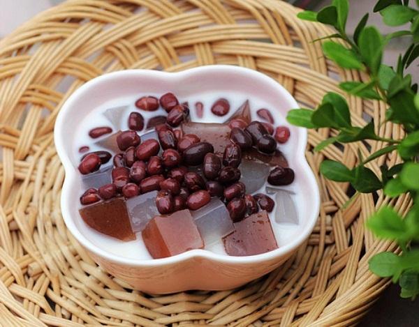 chè đậu đỏ thạch dừa Chè đậu đỏ thạch dừa ngọt mát che dau do thach dua 81