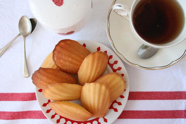 Bánh sò madeleine trà xanh thơm mát