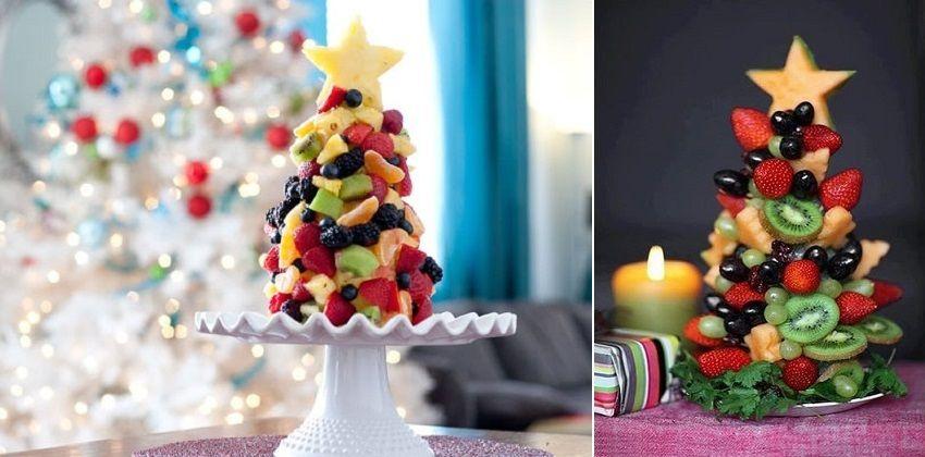 2 cách làm cây thông Noel từ trái cây tươi bày tiệc Giáng sinh