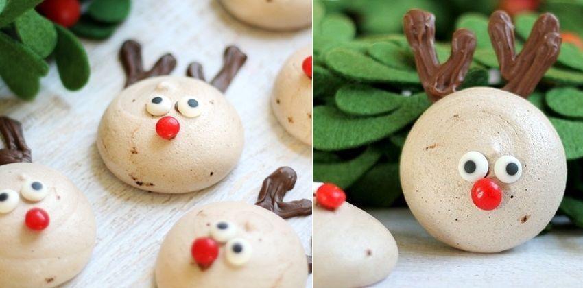 Cách làm bánh meringue Giáng sinh hình tuần lộc 31 cách làm bánh meringue Bánh quy meringue hình tuần lộc xinh yêu chào đón Noel cach lam banh meringue giang sinh hinh tuan loc 31