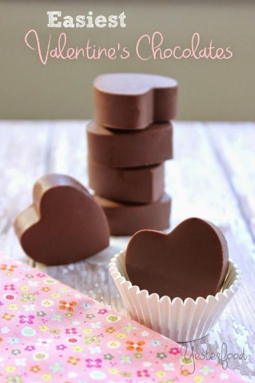cách làm socola trái tim đơn giản nhất cho valentine 1