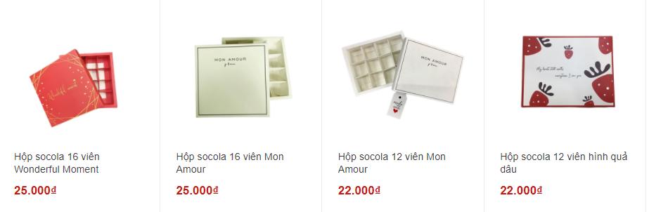hộp socola valentine Các mẫu hộp socola đẹp được lựa chọn nhiều nhất Valentine 2021 16 vi  n