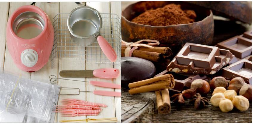 Dụng cụ làm socola ngay trong tích tắc 13 dụng cụ làm socola Cặp bảo bối để hô biến ra socola xinh yêu trong tích tắc dung cu lam socola 14