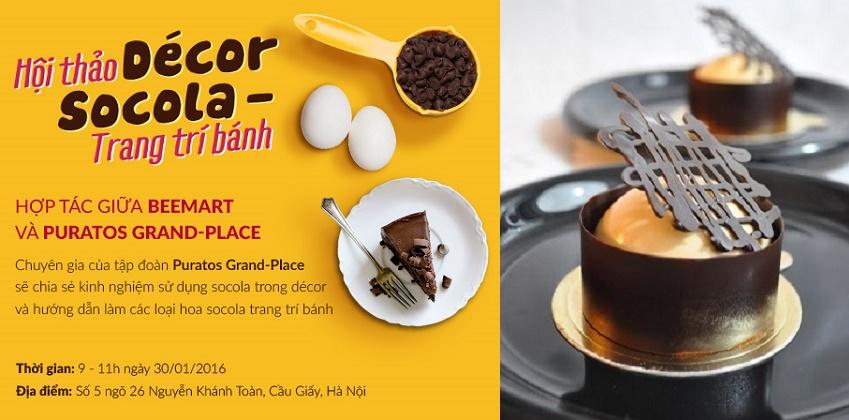 Hội thảo và đào tạo décor socola trang trí bánh