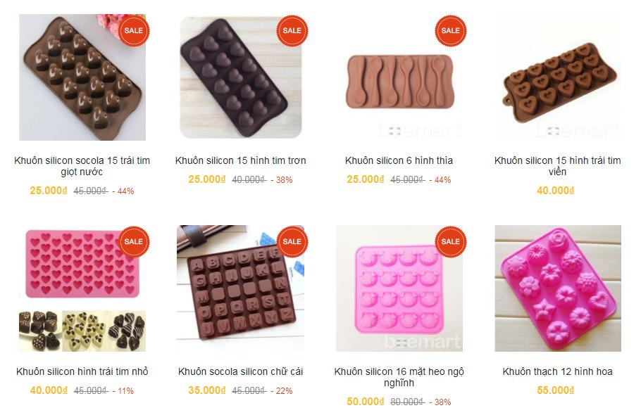 khuôn socola silicon khuôn làm socola Tổng hợp các mẫu khuôn làm socola xinh yêu cho Valentine 2018 khuon socola silicon