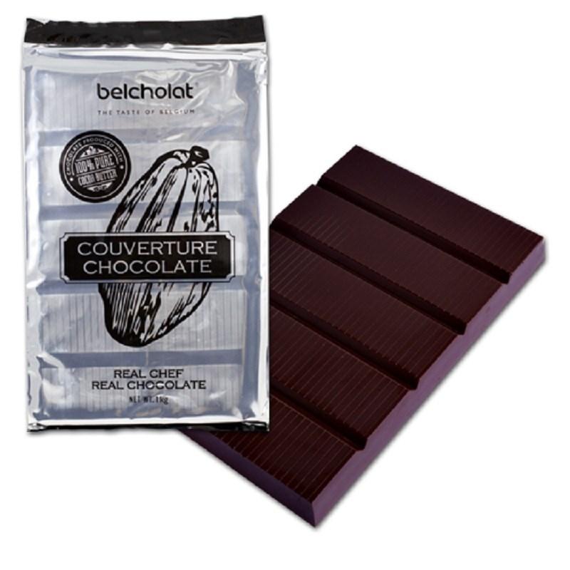 nguyên liệu làm socola Nguyên liệu làm socola cho mùa Valentine 2019 socola belcholat dark chocolate couverture 1kg master