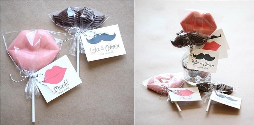 Socola Valentine 2016 độc đáo với nàng môi và chàng râu quặp