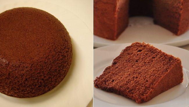 Kết quả hình ảnh cho bánh bông lan socola