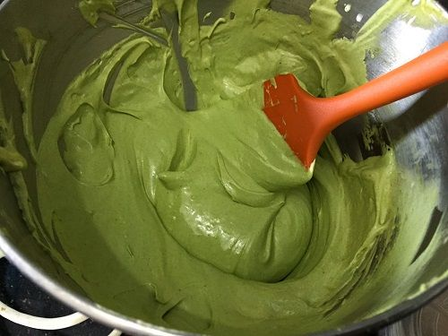 cách làm kem matcha 2