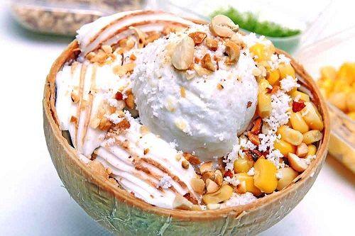 cách làm kem trái dừa 2