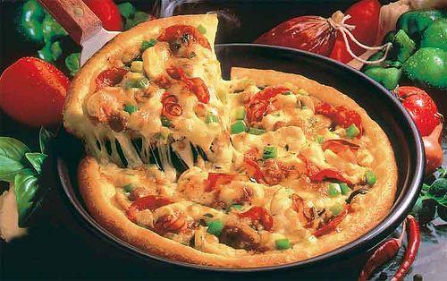 """Résultat de recherche d'images pour """"cách làm pizza bằng chảo"""""""