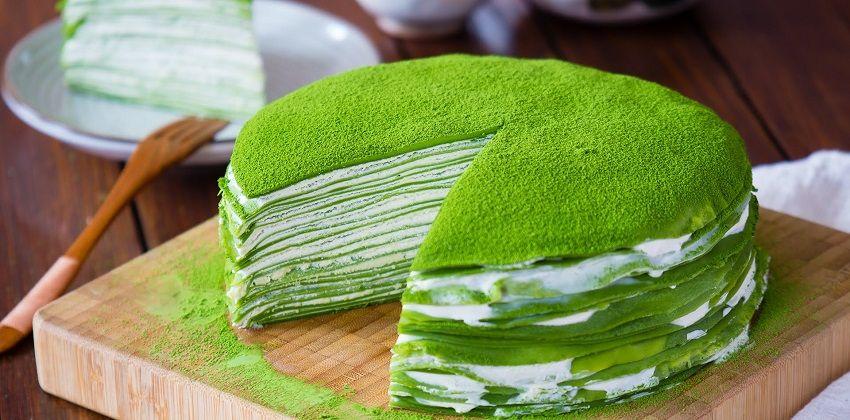 Ngất ngây với cách làm crepe ngàn lớp trà xanh siêu ngon siêu dễ