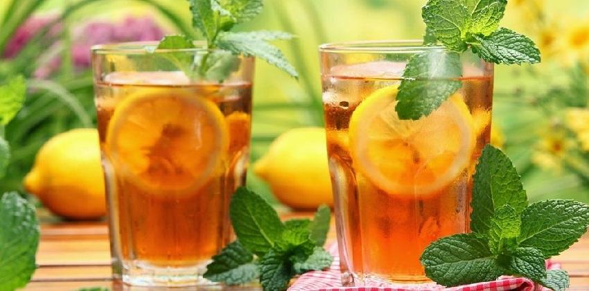 cách pha trà bạc hà 12 cách pha trà bạc hà Công thức pha chế trà chanh bạc hà vị  the mát cho mùa hè cach pha tra bac ha vi chanh thom mat giai nhiet mua he 121