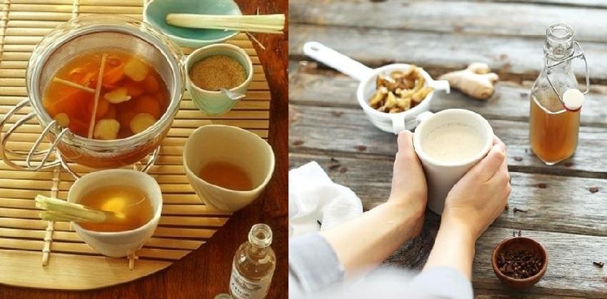 Cách pha trà gừng 91 cách pha trà gừng Chào buổi sáng với ly trà gừng ấm áp cach pha tra gung am ap cho mot sang mua dong se lanh 91