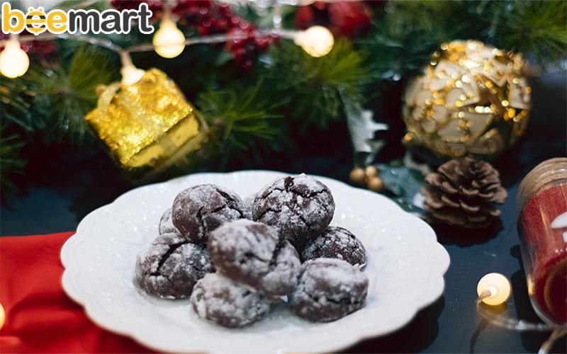 cách làm bánh crinkles cách làm bánh chocolate crinkles Cách làm bánh chocolate crinkles đẹp mắt mà ngon tuyệt cú mèo banh crinkles giang sinh