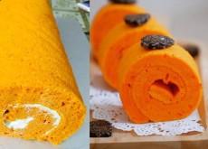 cách làm bánh cuộn gấc 7