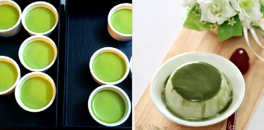 cách làm caramen trà xanh 5 cách làm caramen trà xanh Cách làm caramen trà xanh tươi mát tốt cho sức khỏe cach lam caramen tra xanh thom mat tran day dinh duong 9
