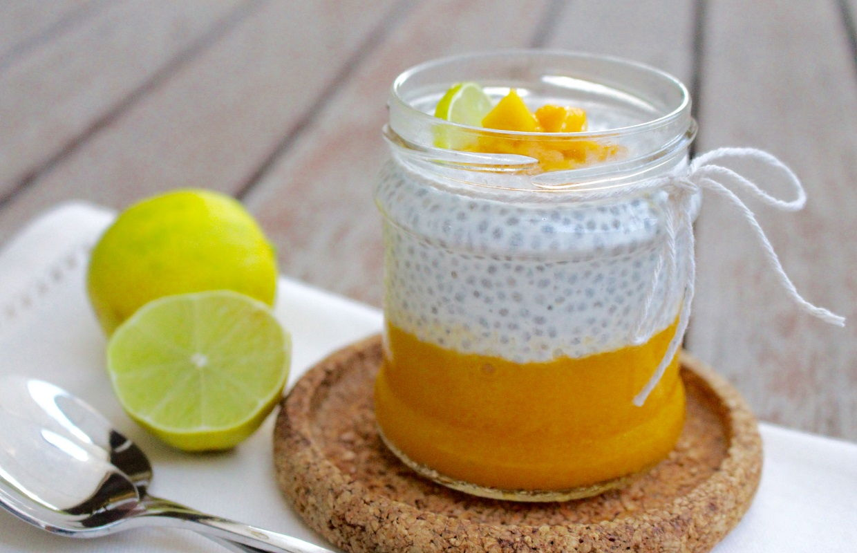 Mê mẩn với  pudding xoài hạt chia ngon mát tốt cho sức khỏe