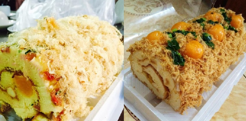 cách làm bánh bông lan cuộn trứng muối 1 cách làm bánh bông lan cuộn trứng muối Cách làm bánh bông lan cuộn trứng muối hấp dẫn cach lam banh bong lan cuon trung muoi don gian hap dan 17