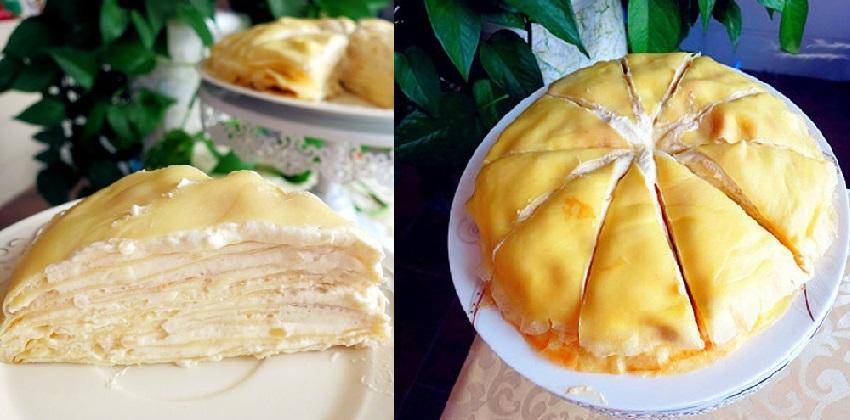 cách làm bánh crepe sầu riêng ngàn lớp 9 cách làm bánh crepe sầu riêng ngàn lớp Bánh crepe ngàn lớp sầu riêng thơm ngon mát lạnh cach lam banh crepe sau rieng ngan lop sieu hap dan 9