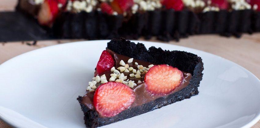 Cách làm bánh tart chocolate dâu cực ngon cực dễ