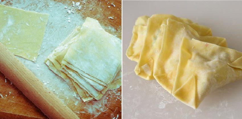 Cách làm vỏ bánh hoành thánh siêu đơn giản ngay tại nhà