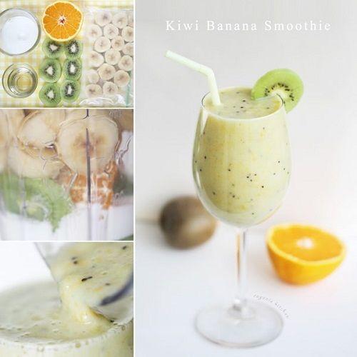 Cách pha sinh tố chuối kiwi vừa ngon vừa bổ không thể bỏ qua