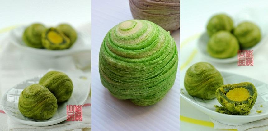 cách làm bánh trung thu ngàn lớp trà xanh 10