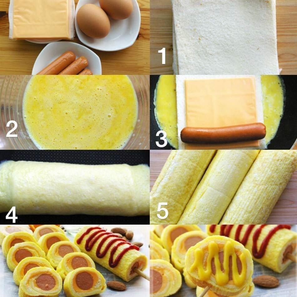 Cách làm bánh mì cuộn trứng phomai chiên đầy dinh dưỡng cho bữa sáng