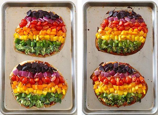 cách làm bánh pizza rau củ 4