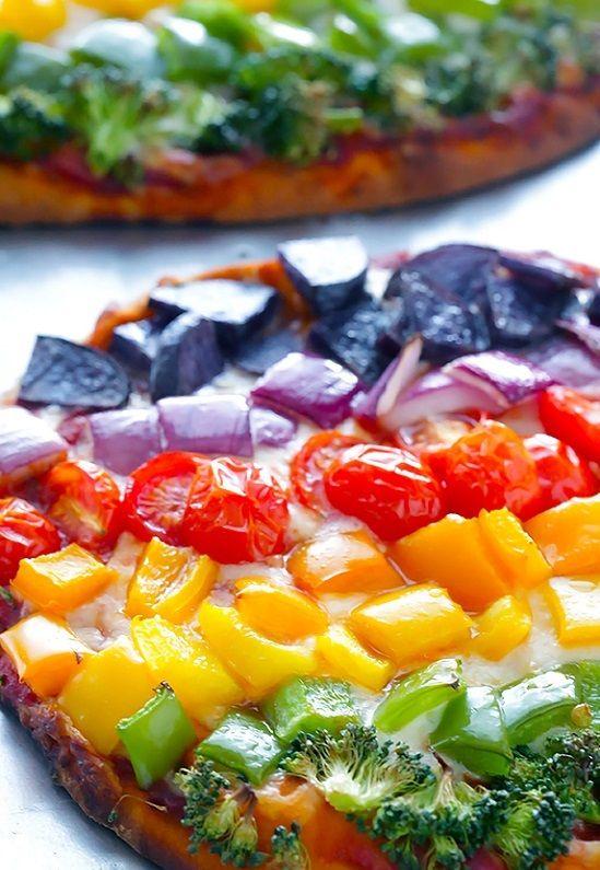 cách làm bánh pizza rau củ 5
