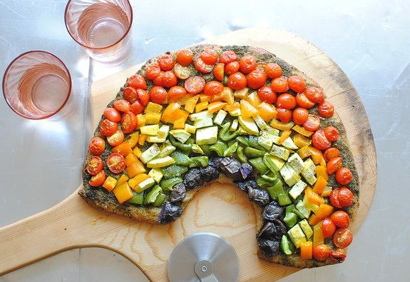 cách làm bánh pizza rau củ 6