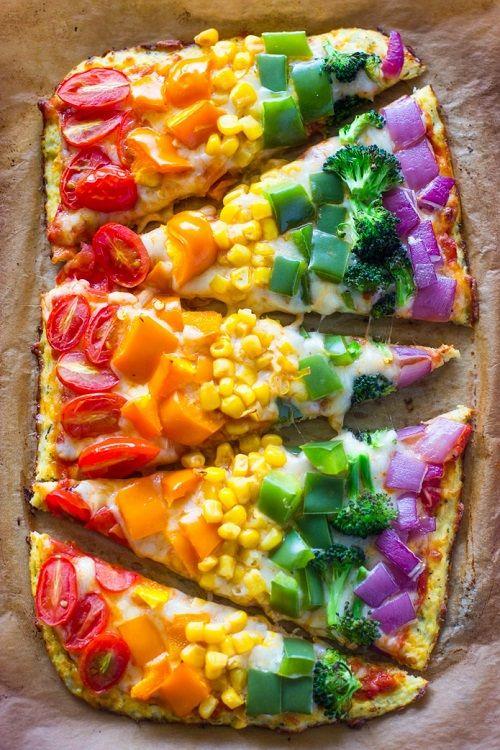 cách làm bánh pizza rau củ 7