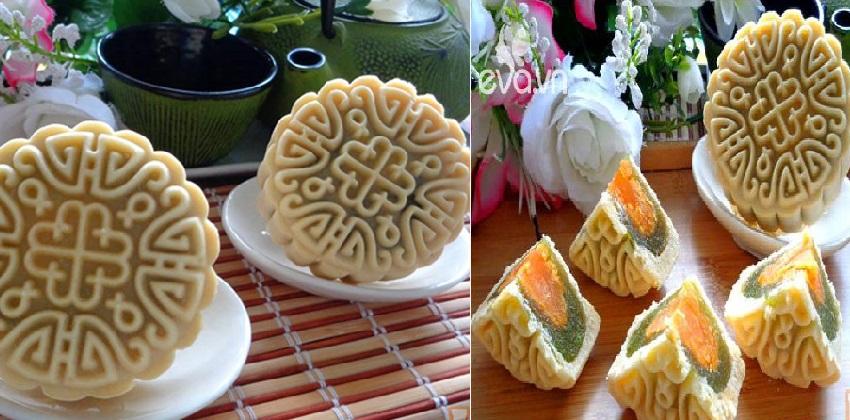 cách làm bánh trung thu vị bơ nhân dứa bí đao 8