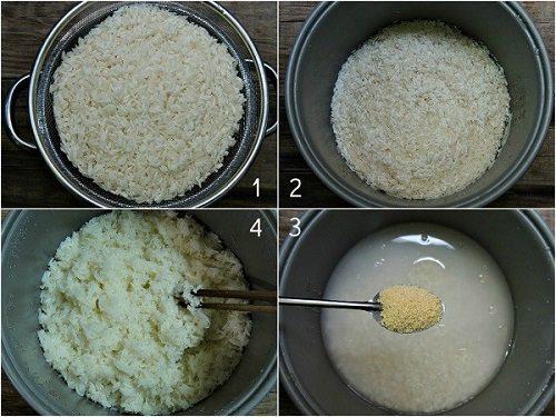 Cách làm cơm cháy chà bông thơm ngon hấp dẫn chuẩn vị Ninh Bình 2