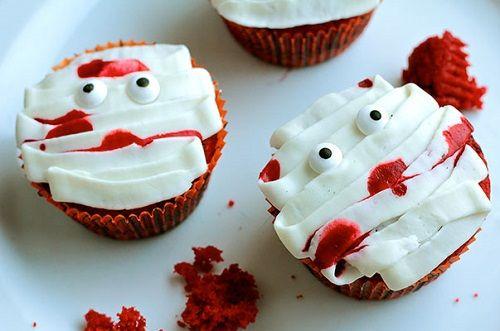 cách làm bánh cupcake xác ướp 2