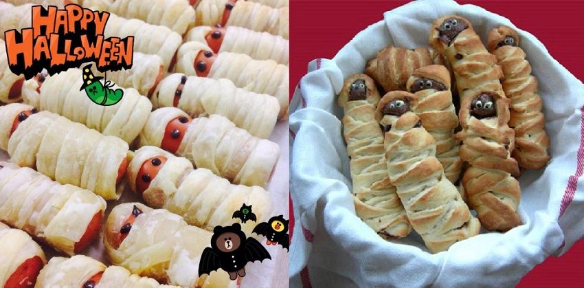 cách làm bánh mì xác ướp Ai Cập 2 cách làm bánh mì xác ướp ai cập Rùng rợn với bánh mì xác ướp Ai Cập cho ngày lễ Halloween cach lam banh mi xac uop ai cap cho ngay le halloween 3