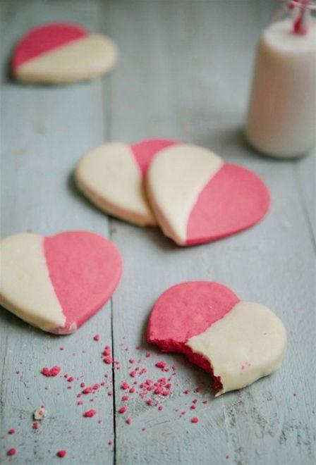 cách làm bánh quy trái tim hồng 2