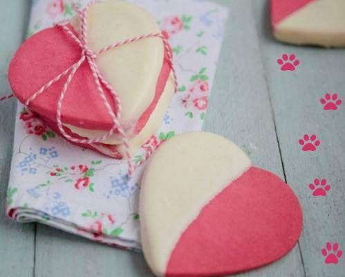cách làm bánh quy trái tim hồng 3