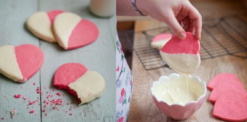 cách làm bánh quy trái tim hồng 6 cách làm bánh quy trái tim hồng Cách làm bánh quy trái tim cho người ấy vào ngày 20/10 cach lam banh quy trai tim hong tang mot nua yeu thuong 6