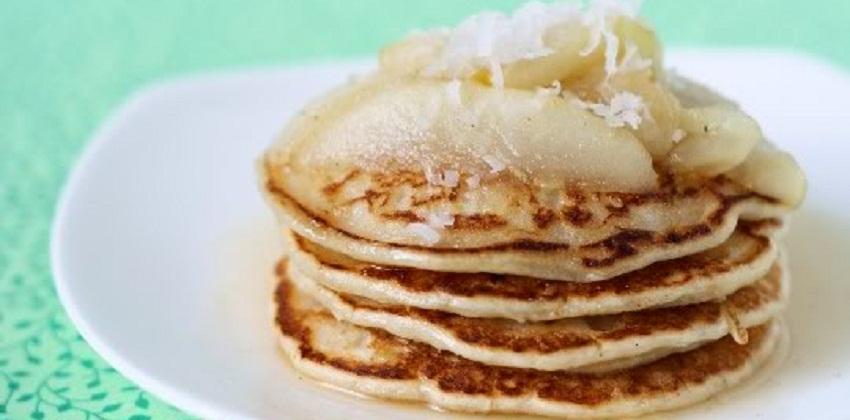 cách làm pancake dừa 3