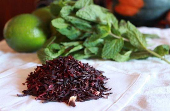 cách pha trà hibiccus 1