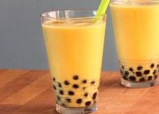 cách pha trà sữa hạnh nhân chanh leo 4