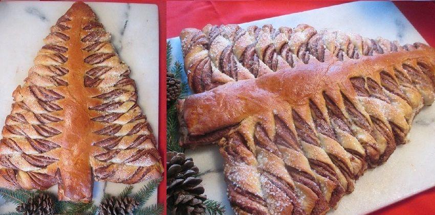 Bánh mỳ cây thông Noel cho buổi sáng Giáng sinh thêm thú vị