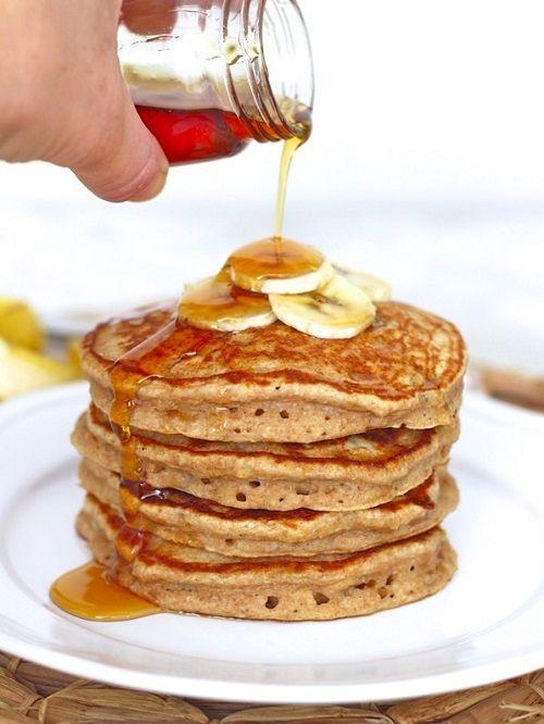 cách bánh pancake mà không cần bơ và bột mì 7