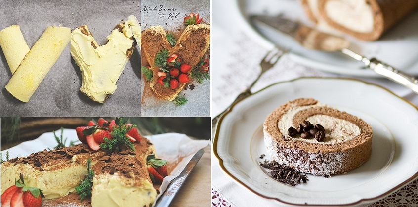 Bánh cuộn tiramisu độc đáo cho mùa giáng sinh